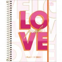 Imagem - Planner Espiral 17,7 x 24 cm Love Pink 2022 - Love Pink Fundo Branco - Sortido
