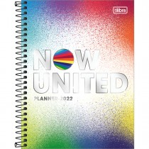 Imagem - Planner Espiral 17,7 x 24 cm Now United 2022 - Splashs Coloridos - Sortido
