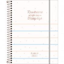 Imagem - Planner Espiral 17,7 x 24 cm Soho 90 G 2022 - Listras Azuis e Rosas - Sortido