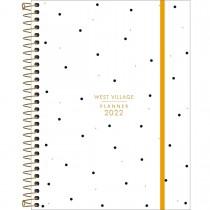 Imagem - Planner Espiral 17,7 x 24 cm West Village 2022 - Fundo Branco com Poá - Sortido