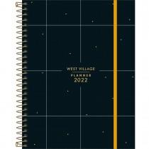 Imagem - Planner Espiral 17,7 x 24 cm West Village 2022 - Fundo Preto com Quadriculado - Sortido