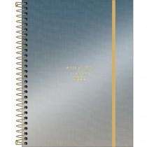 Imagem - Planner Espiral 17,7 x 24 cm West Village Metalizado 2022 - Degradê Azul e Prata - Sortido