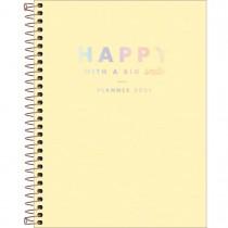 Imagem - Planner Espiral Happy Amarelo 2021