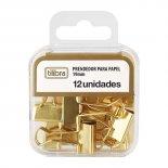 Imagem - Prendedor de Papel 19mm Dourado 12 Unidades