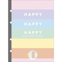 Imagem - Refil Tiliflex para Caderno Argolado Colegial Happy Colors 80 Folhas
