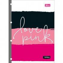 Imagem - Refil Tiliflex para Caderno Argolado Universitário Love Pink 80F