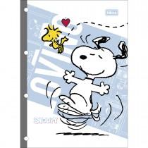 Imagem - Refil Tiliflex para Caderno Argolado Universitário Snoopy 80 Folhas