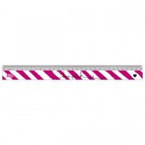 Imagem - Régua em Poliestireno 30cm Love Pink