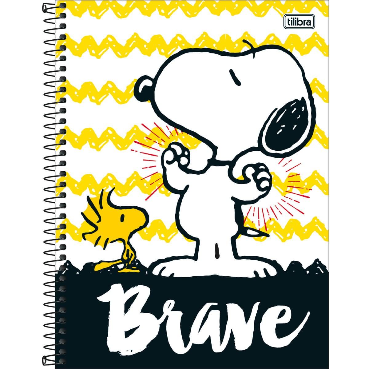 Caderno Espiral Capa Dura Universitário 16 Matérias Snoopy 320 Folhas -  Sortido (Pacote com 2 unidades) 9475563e852b5