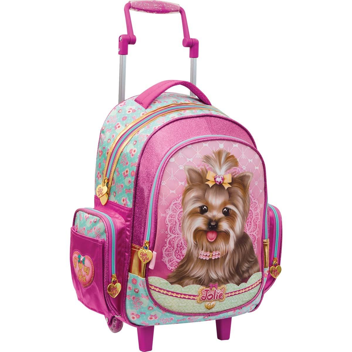 09a8e0156c583 Mochila de Rodinhas Infantil Grande Jolie Pet Cachorro Top
