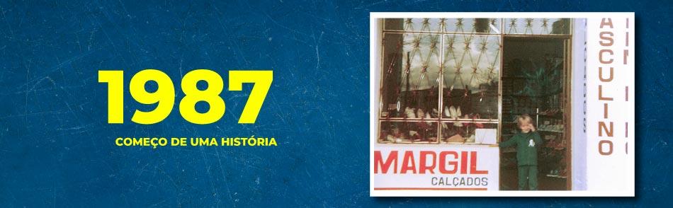 Primeiro registo da Margil Calçados, inaugurada em 1987