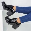 Sapato Morena Branca 4050-016 Verniz Preto