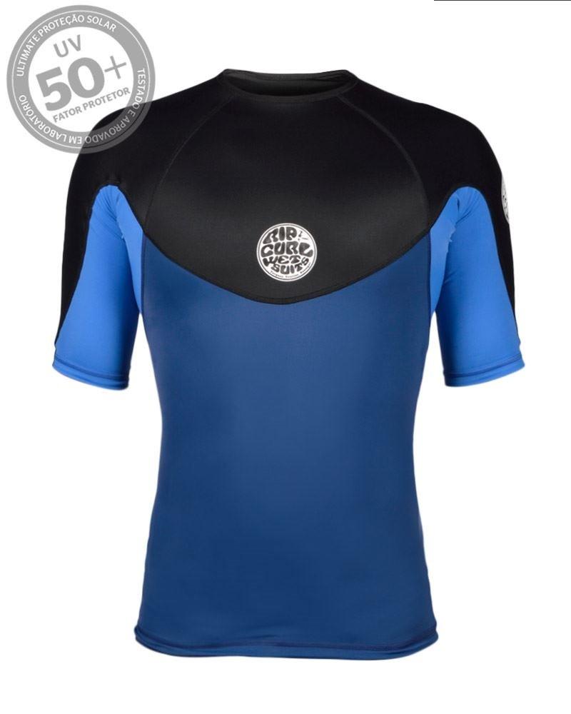 96b3f201ad Camiseta Lycra Rip Curl M C E-bomb Pro