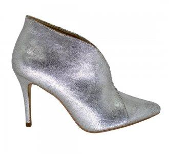 Imagem - Ankle Boot Bico Fino Craquelure Silver cód: 5777