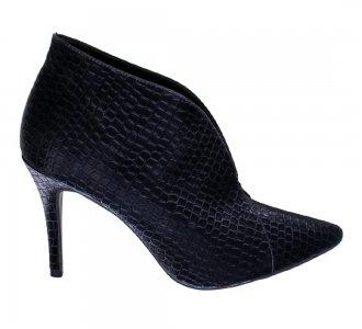 Imagem - Ankle Boot Bico Fino Crokin Black cód: 5771