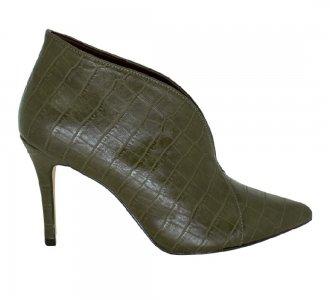 Imagem - Ankle Boot Bico Fino Croco Army cód: 5775
