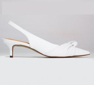 Imagem - Scarpin Modelo Chanel Com Nó White cód: 5697