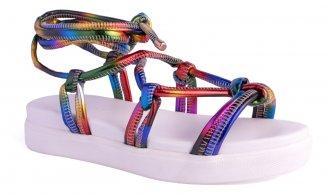 Imagem - Snadália Sneaker Bottom com Amarração cód: 7601