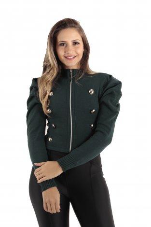 Casaqueto Tricô Feminino com Zíper