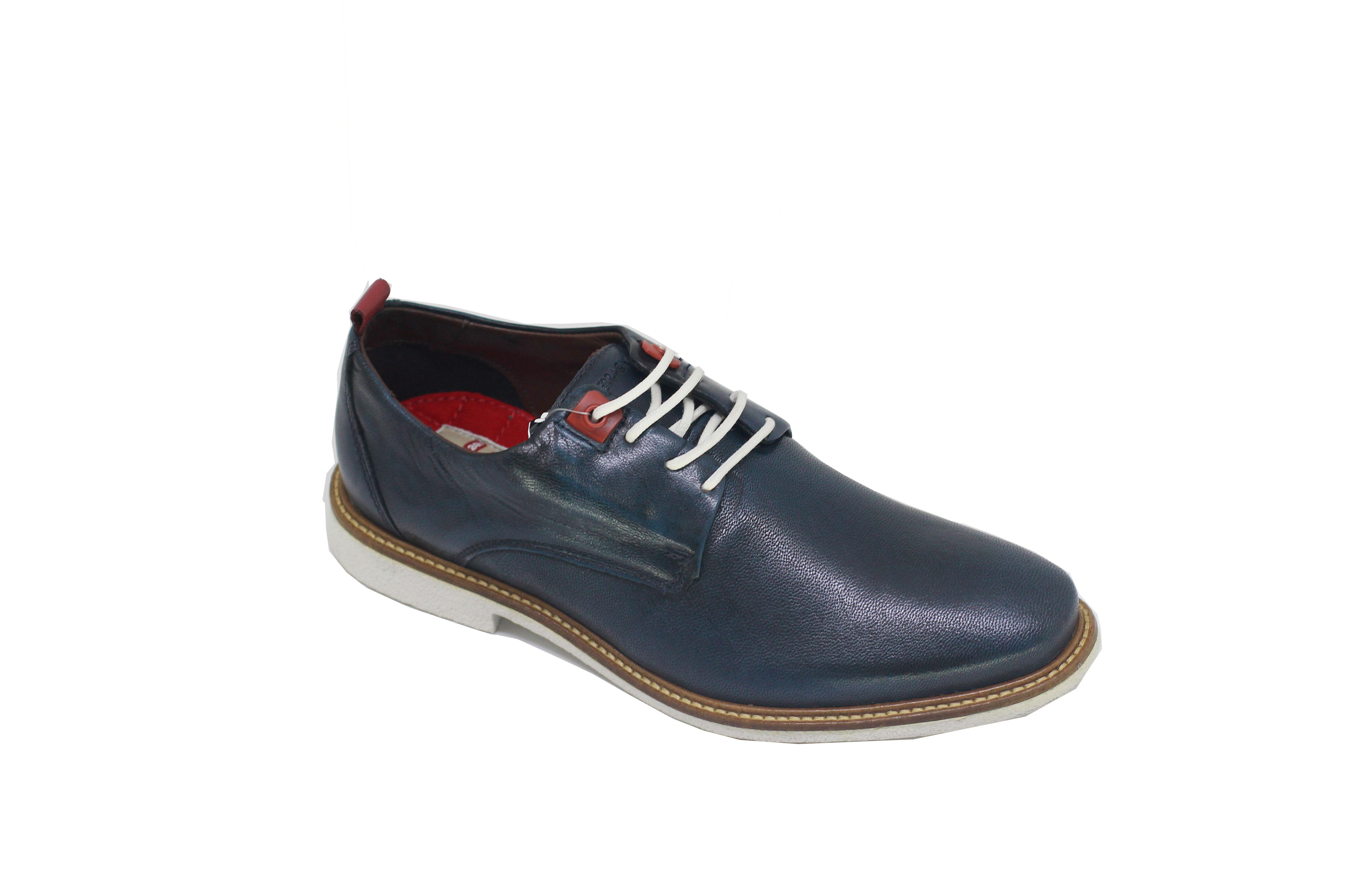 2187263635 Sapato Ferracini Esporte Masculino Com Cadarço Azul