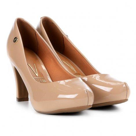 9c40231ef9 Sapato Scarpin com Meia Pata Salto Alto Vizzano Nude - MM Concept