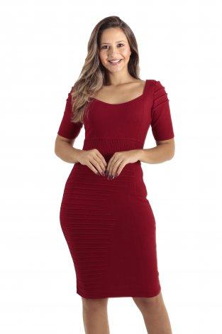 Vestido Midi Tricot Moda Evangélica