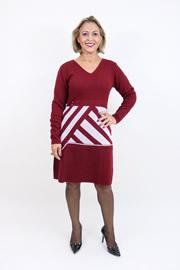 Imagem - Vestido lã estampa geometrica