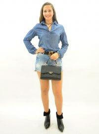 Imagem - Camisa Bata Feminina Jeans