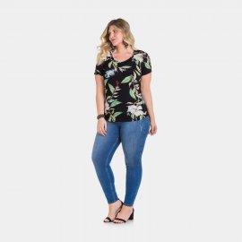 Imagem - Blusa Feminina Lunender Plus Size Estampada