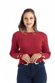 Imagem - Blusa Feminina Tricô Modal Inverno