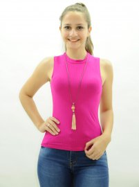 Blusa Regata Feminina Canelada Lunender Pink 8a87ca339bd