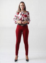 Imagem - Camisa Feminina Floral com Laço