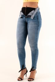 Imagem - Calça Super Lipo Chapa Barriga Jeans