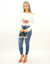 Imagem - Calça Jeans Feminina Skinny com Barra Diferenciada