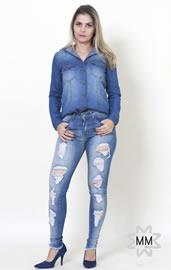 7baeb1e7a Imagem - Calca Feminina Jeans Skinny Dardak