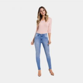 Imagem - Calça Feminina Jeans Lunender Push Up
