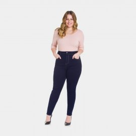Imagem - Calça Feminina Jeans Plus Size Skinny Lunender