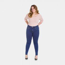 Imagem - Calça Feminina Jeans Skinny Plus Size Lunender
