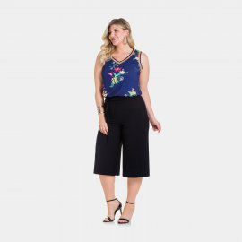 Imagem - Calça Feminina Pantacourt Lunender Plus Size