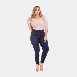 Imagem - Calça Feminina Plus Size Jeans Lunender Cintura Média