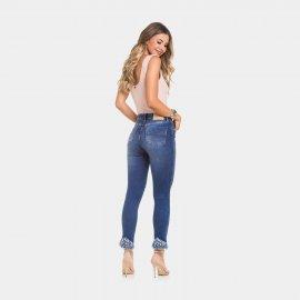 Imagem - Calça Jeans Feminina Destroyed Skinny Lunender