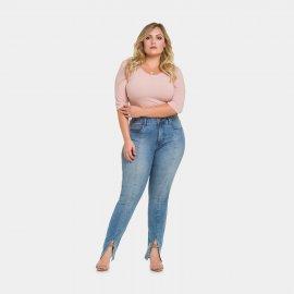 Imagem - Calça Jeans Feminina Plus Size Lunender Skinny
