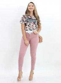 Imagem - Calça Jeans Feminina Rose Cigarrete