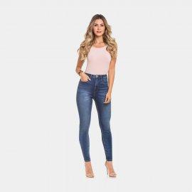 Imagem - Calça Jeans Feminina Skinny Lunender Cintura Alta