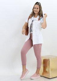Imagem - Calça Jeans Skinny Rosa Feminina