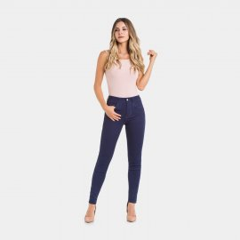 Imagem - Calça Lunender Feminina Jeans Skinny Cintura Média