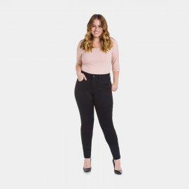 Imagem - Calça Preta Feminina Sarja Skinny Plus Size Lunender