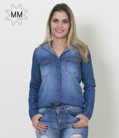 Imagem - Camisa Feminina Jeans Botôes