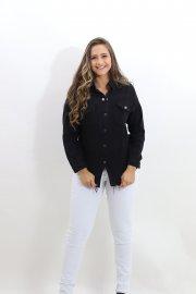Imagem - Camisa Feminina Sarja com Barra Desfiada