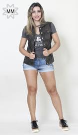 Imagem - Colete Black Jeans Feminino Camuflado